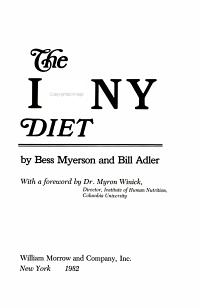 The I  love  NY Diet