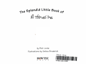The Splendid Little Book of All Things Dog PDF