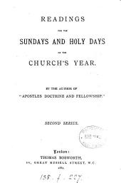 Readings for the Sundays and Holy Days of the Church's Year: Second series