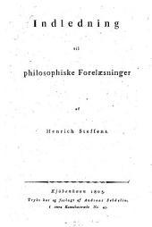 Indledning til philosophiske Forelaesninger
