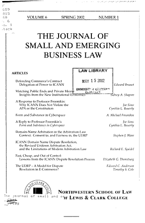 The journal of small and emerging business law PDF