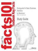 Studyguide for Basic Business Statistics by Berenson