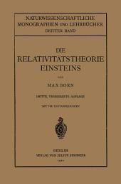 Die Relativitätstheorie Einsteins und Ihre Physikalischen Grundlagen: Elementar Dargestellt, Ausgabe 3