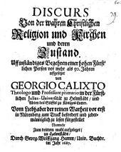 Discurs von der wahren christlichen Religion
