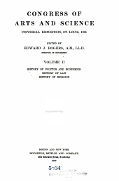 Congress of Arts and Science: Universal Exposition, St. Louis, 1904, Volume 2