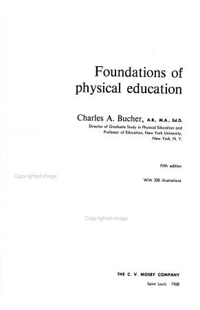 Foundations of Physical Education PDF