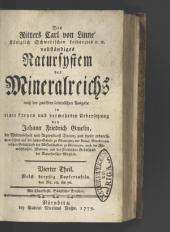 Des Ritters Carl von Linné ... vollständiges Natursystem des Mineralreichs: Band 4