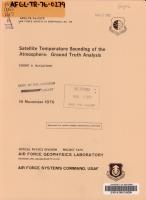 Satellite Temperature Sounding of the Atmosphere PDF