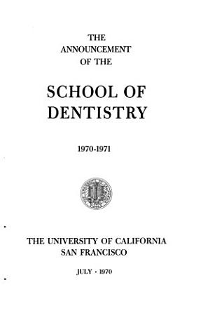 Announcement of the School of Dentistry PDF