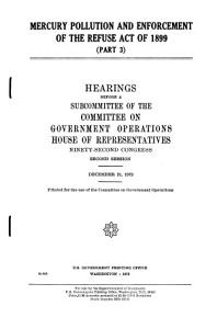 Mercury Pollution and Enforcement of the Refuse Act of 1899 PDF