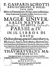 Magia universalis naturae et artis: Mathematica, Volume 3