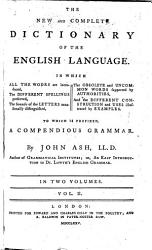 The New And Complete Dictionary Of The English Language PDF