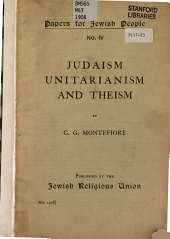 Judaism, Unitarianism and Theism