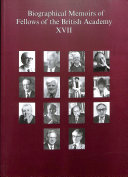 Biographical Memoirs of Fellows of the British Academy  XVII PDF