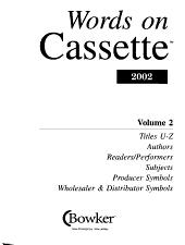 Words on Cassette 2002 PDF
