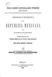 Geografía y estadística de la República Mexicana: Sonora