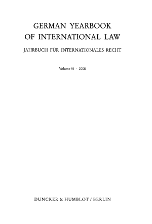 German Yearbook of International Law PDF