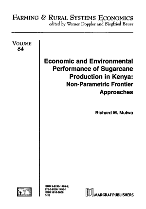 Economic and Environmental Performance of Sugarcane Production in Kenya PDF