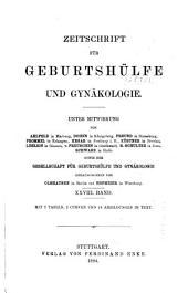 Zeitschrift für Geburtshilfe und Gynäkologie