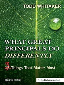 What Great Principals Do Differently Book