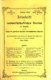 Zeitschrift des Landwirthschaftlichen Vereins in Bayern: zugl. Organ d. Agrikultur-Chemischen Versuchsstationen Bayerns. 1869