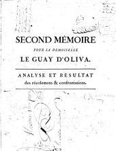 Second mémoire pour la demoiselle Le Guay d'Oliva, fille mineure, émacipé d'age, accusée contre Mr. le procureur général, accusateur; général,en préfence de M. le Cardinal-prince de Rohan, de la dame de la Motte-Valois, du sieur Rétaux de Vilette, du sieur de Cagliostro, & autres ; tous co-accusés