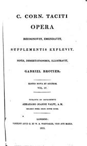 C. Corn. Taciti Opera: Volume 4