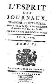 L'Esprit des journaux franc̜ais et étrangers: Volume52