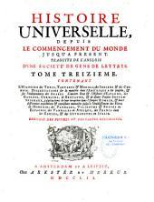 Histoire universelle, depuis le commencement du monde, jusqu'à present