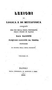 Lezioni di logica e metafisica: 4