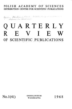 Quarterly Review of Scientific Publications PDF