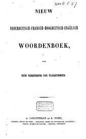 Nouveau dictionnaire Français-Hollandais-Allemand-Anglais: Volume 4