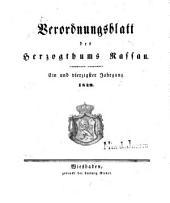 Verordnungsblatt des Herzogtums Nassau: Band 41