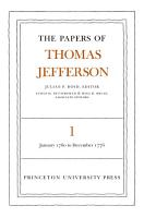 The Papers of Thomas Jefferson  Volume 1 PDF