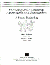 Phonological Awareness Assessment and Instruction PDF