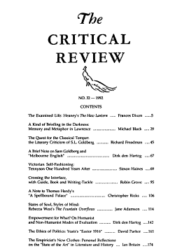 The Critical Review PDF