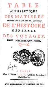 Histoire générale des voyages: Volume64