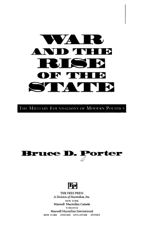 War and the Rise of the State PDF