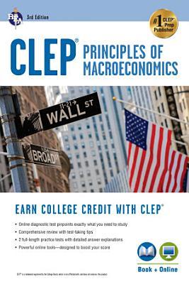 CLEP Principles of Macroeconomics 3rd Ed   Book   Online