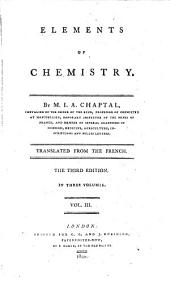 Elements of Chemistry: Volume 3