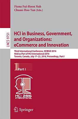 HCI in Business  Government  and Organizations  eCommerce and Innovation PDF