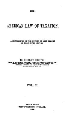 The American Law of Taxation PDF