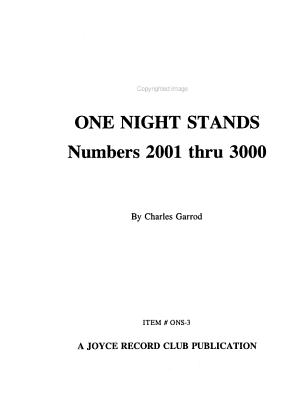 AFRS One Night Stands: 1001 thru 2000