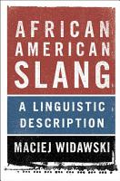 African American Slang PDF