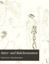 Satyr- und Bakchennamen