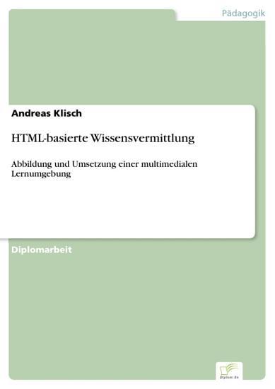 HTML basierte Wissensvermittlung PDF