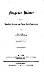 Fliegende Blätter aus dem Rauhen Hause zu Horn bei Hamburg: Organ des Central-Ausschusses für die Innere Mission der Deutschen Evangelischen Kirche, Band 14