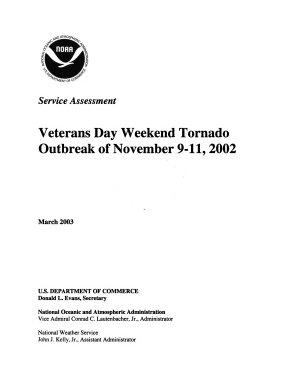 Veterans Day Weekend Tornado Outbreak of November 9 11  2002