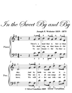 In the Sweet By and By   Easy Piano Sheet Music PDF