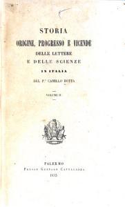 Storia  origine  progresso e vicende delle lettere e delle scienze in Italia PDF